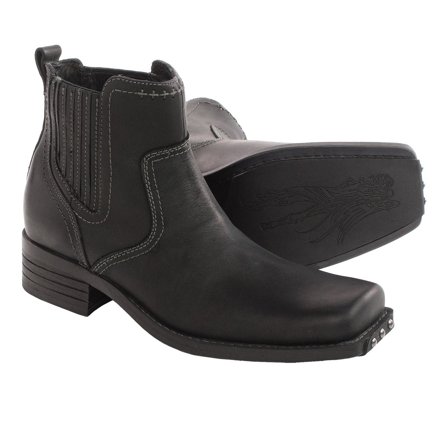 Leather Chelsea Boots Men Images Padded Jacket