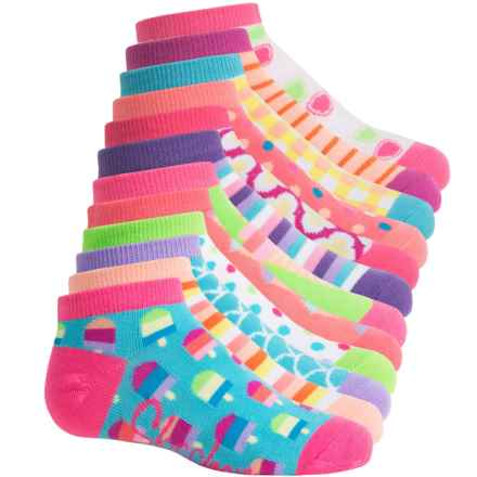 Skechers Mix-and-Match Ankle Socks - 6-Pack, Below the Ankle (For Big Girls) in Pink/Blue - Closeouts