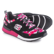 Skechers OG 92 Flower Flare Sneakers (For Women) in Black/Fuchsia - Closeouts