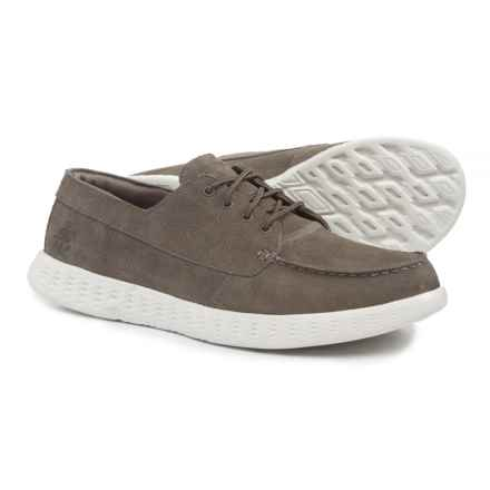Skechers On-the-Go Glide-Vision Shoes - Suede (For Men) in Khaki - Closeouts