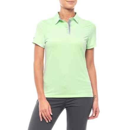 Pitch Tech Polo Shirt - Short Sleeve (For Women) in Green - Closeouts