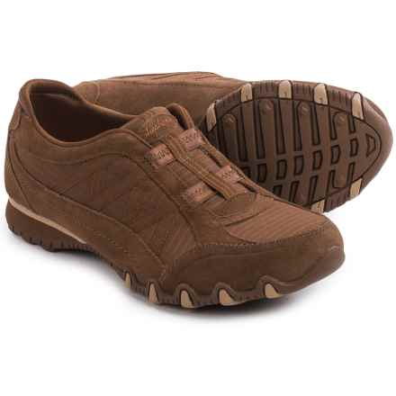 Skechers Relaxed Fit Bikers Crossroads Shoes - Slip-Ons (For Women) in Desert Brown - Closeouts