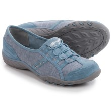 Skechers Relaxed Fit Breathe Easy Pretty Lady Shoes - Slip-Ons (For Women) in Blue - Closeouts