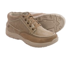 Skechers Relaxed Fit Expected Bremo Mid Sneakers (For Men) in Tan - Closeouts