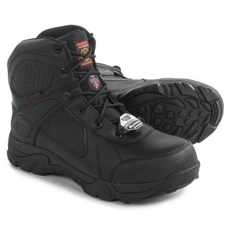 Skechers Relaxed Fit Grahn Steel Toe Work Boots For Men