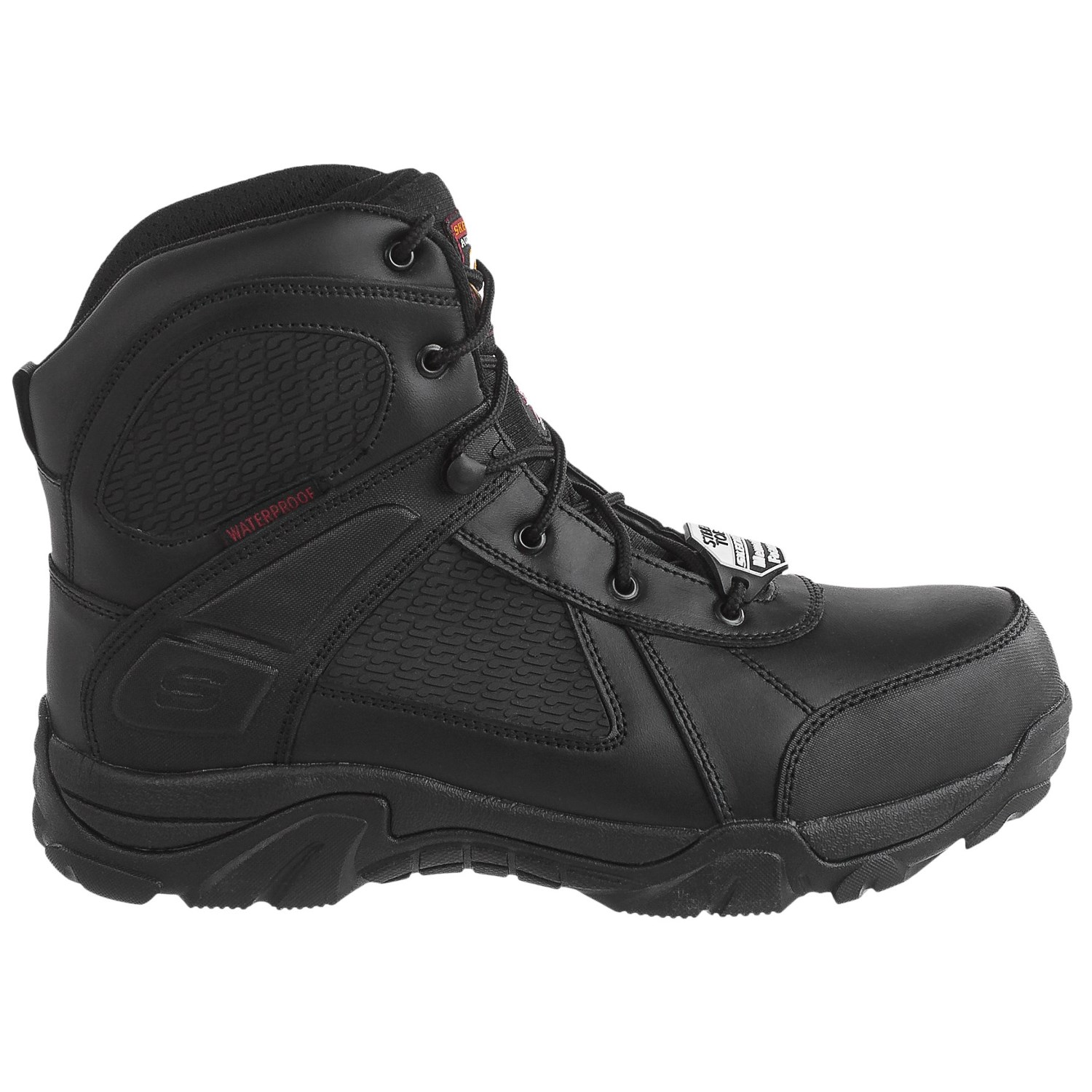 Skechers Relaxed Fit Grahn Steel Toe Work Boots (For Men) - Save 60%