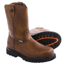 Skechers Relaxed Fit Ruffneck Work Boots - Steel Toe, Leather (For Men) in Brown - Closeouts