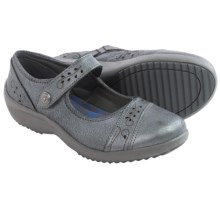 Skechers Relaxed Fit Savor-Flower Fields Mary Jane Shoes  - Leather (For Women) in Gunmetal - Closeouts