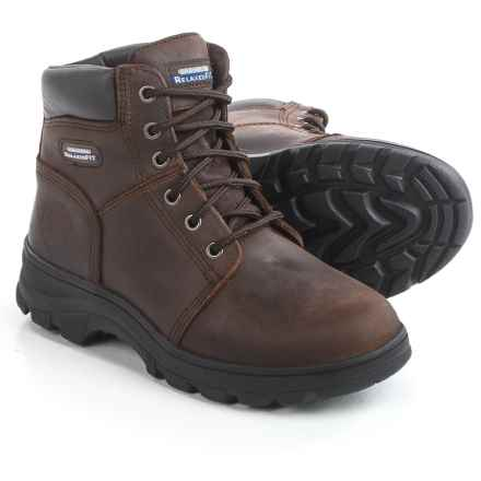 Skechers Relaxed Fit Workshire Fitton Work Boots - Leather (For Women) in Brown - Closeouts