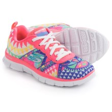 Skechers Skech Appeal Arrowhead Running Shoes (For Little and Big Girls) in Hot Pink/Multi - Closeouts