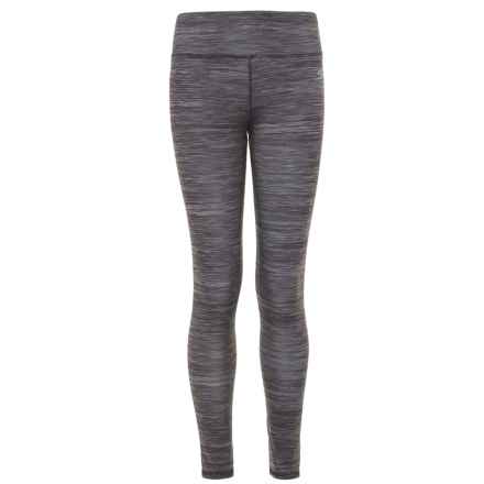 Skechers Space-Dye Leggings (For Girls) in Black/Grey - Closeouts
