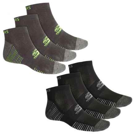 Sport Low-Cut Socks - 6-Pack, Ankle (For Men) in Black/Bright - Closeouts