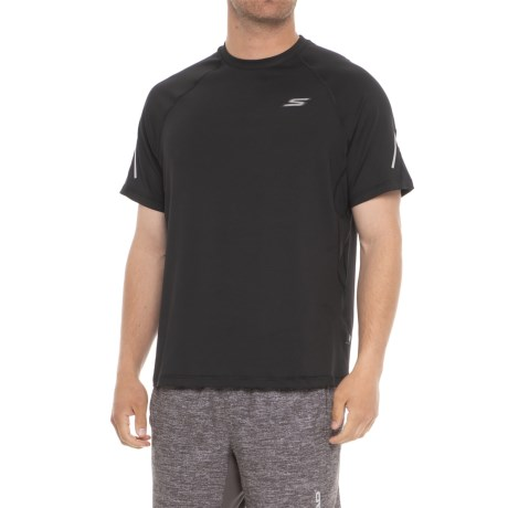 Skechers Tech T-Shirt - Short Sleeve (For Men) in Black
