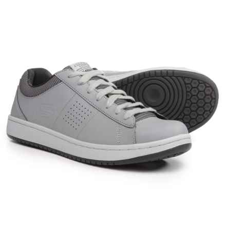 Skechers Tedder-Turret Relaxed Fit Sneakers - Leather (For Men) in Gray - Closeouts