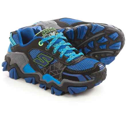 Skechers Trail Crusher Hiking Shoes (For Little Boys) in Black/Royal - Closeouts