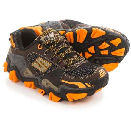 Skechers Trail Crusher Hiking Shoes (For Little Boys) in Chocolate/Orange - Closeouts