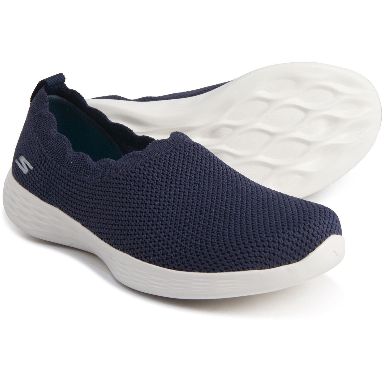 Skechers You Define Peace Sneakers Slip Ons, Navy (For Women)