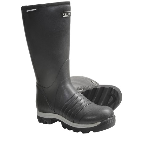 "Skellerup Quatro Rubber Boots - 16"", Insulated (For Men) in Black"