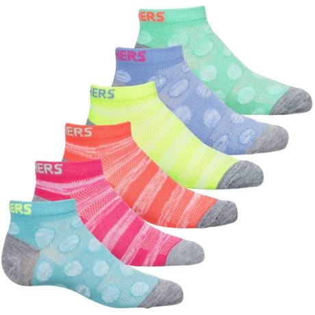 Sketchers Ankle Socks - 6-Pack (For Girls)