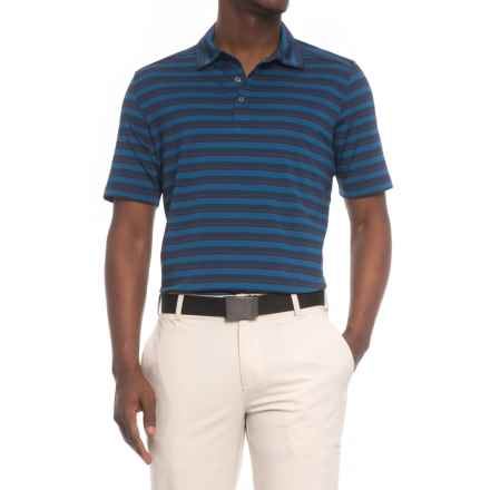 Sketchers GOgolf Approach Stripe Polo Shirt - Short Sleeve (For Men) in Navy - Closeouts