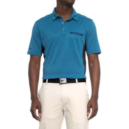Sketchers GOgolf Crestline Polo Shirt - Short Sleeve (For Men) in Blue - Closeouts