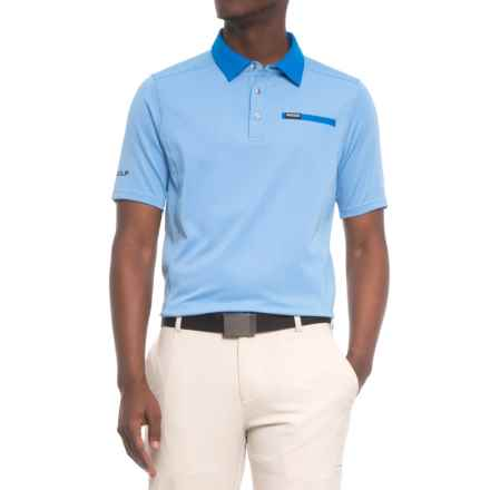 Sketchers GOgolf Mansfield Polo Shirt - Short Sleeve (For Men) in Blue - Closeouts
