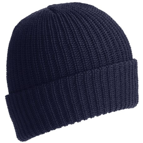 Ski Tops Watch Stocking Cap - 100% Wool (For Men) in Midnight