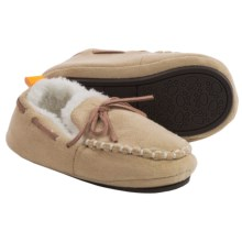 Skidders Plush Moccasin Slippers (For Infants and Toddlers) in Tan - Closeouts