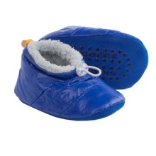Skidders Puffy Bootie Slippers (For Infants and Toddlers) in Blue Grey - Closeouts