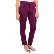 Skinny Colored Ankle Jeans (For Women) in Purple Floral Print - 2nds