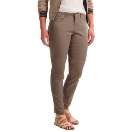 Skinny Leg Twill Pants (For Women) in Brown - 2nds