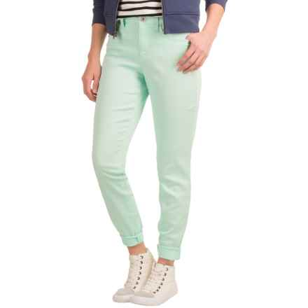 Skinny Leg Twill Pants (For Women) in Fresh Teal - 2nds