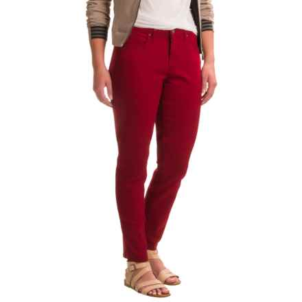 Skinny Leg Twill Pants (For Women) in Red - 2nds