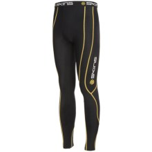Skins Bio Sport Long Base Layer Tights - Midweight (For Men) in Black - Closeouts