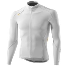 Skins C400 Compression Cycling Jersey - UPF 50+, Full Zip, Long Sleeve(For Men) in White/Grey - Closeouts
