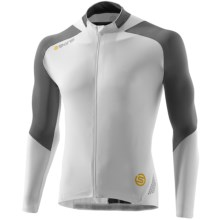 Skins C400 Cycling Jersey - UPF 50+, Full Zip, Long Sleeve (For Men) in White/Grey - Closeouts