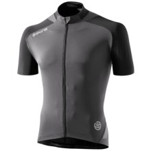 Skins C400 Cycling Jersey - UPF 50+, Full Zip, Short Sleeve (For Men) in Black/Grey - Closeouts