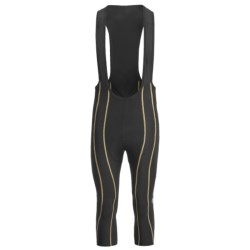 Skins Cycle Pro Compression Bib 3/4 Tights (For Men) in Black/Grey