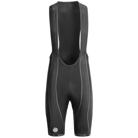 Skins Cycle Pro Compression Bib Shorts (For Men) in Black/Grey