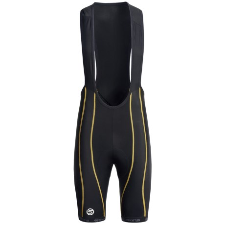 Skins Cycle Pro Compression Bib Shorts (For Men) in Black