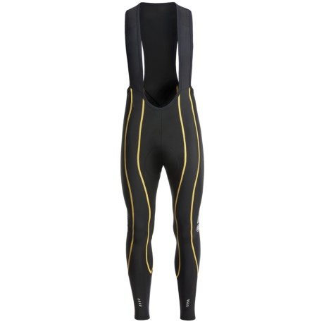 Skins Cycle Pro Compression Bib Tights (For Men) in Black/Grey