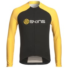 Skins Cycle Pro Cycling Jersey - UPF 50+, Full Zip, Long Sleeve (For Men) in Black/Yellow - Closeouts