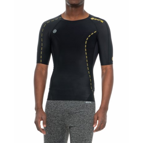 Skins DNAmic Compression Shirt - Short Sleeve (For Men) in Black