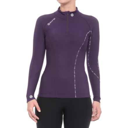 Skins DNAmic Thermal Base Layer Top - UPF 50+, Zip Neck, Long Sleeve (For Women) in Blackberry/Violet - Closeouts
