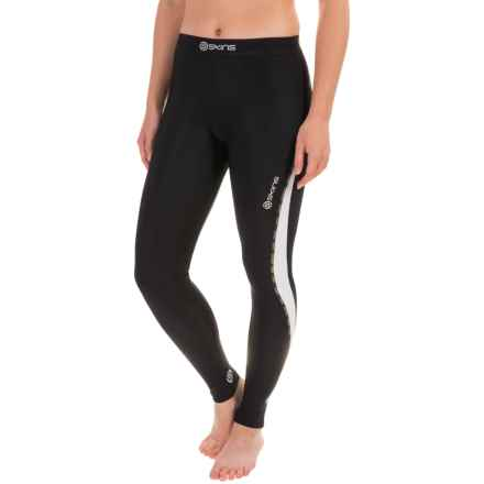 SKINS DNAmic Thermal Compression Tights (For Women) in Black/Cloud - Closeouts