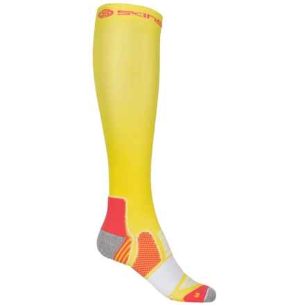 Skins Essential Active Compression Socks - Over the Calf (For Women) in Limoncello/Pomelo - Closeouts