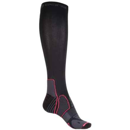 SKINS Essentials Active Compression Socks - Over the Calf (For Women) in Black/Atomic - Closeouts