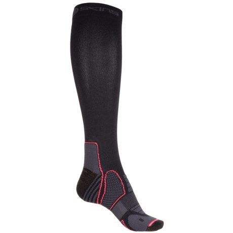 SKINS Essentials Active Compression Socks - Over the Calf (For Women) in Black/Atomic