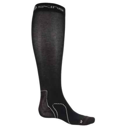 Skins Recovery Compression Socks - Over the Calf (For Men) in Black - Closeouts