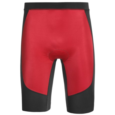 Skins Tri400 Compression Triathlon Shorts - UPF 50+ (For Men) in Red/Black